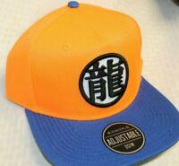 Dragon Ball Z Kanji Orange Blue Anime Snapback Baseball Flat Bill Hat Cap Goku