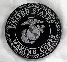 "U.S. Marine Corps, HMC Billet Aluminum Trailer Hitch plug Cover, 4"" Rd."