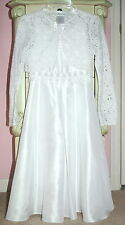 NEW Girls WHITE lace DRESS Bonnie Jean size 8 Wedding Bridesmaid Communion