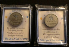 Wish Upon A Star Gift Coins Grandpa Lot Of 2 - Ganz