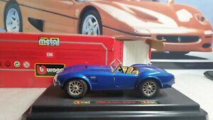 BURAGO MODELS - FORD AC COBRA 427 - BLUE - 1/24 SCALE MODEL CAR - COD.0513