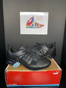 RARE! Puma Mens  Cell Regulate SL BLACK Running Sneaker Athletic Shoes Size 14