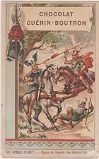CHROMO PUBLICITAIRE CHOCOLAT GUERIN-BOUTRON-ARMES D'HAST-Epieu de Guerre Saxons