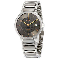 Rado Centrix Grey Dial Stainless Steel Case Stainless Steel and Black Ceramic