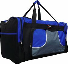 """20"""" 40LB. CAP BLACK WITH BLUE DUFFLE BAG/ GYM BAG / LUGGAGE/ CARRY ON"""
