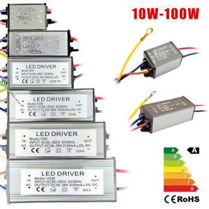 10W 50W 100W LED Driver Transformateur de pilote imperméable IP65 DIY 1-5 paquet