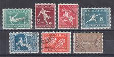 Bulgaria Sc 237-243 used 1931 Balkan Games, cplt set, F-Vf