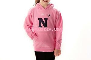 Adidas NCAA Navy Midshipmen Childrens & Youth Girls Hoodie Sweatshirt N * Pink