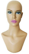 MN-322 Female Mannequin Head Display Form With Stylish Neck Bust, Painted Face
