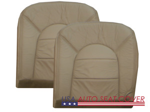 97 -00 Ford F 250- 350 Lariat Standard GAS  D. P. Bottom Leather seat cover TAN