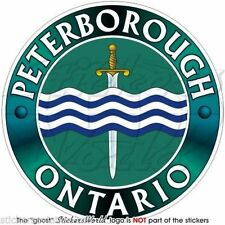 "PETERBOROUGH ONTARIO Canada Canadian Vinyl Bumper Decals, Stickers 4""(100mm) x1"