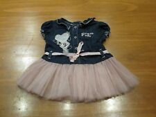 Guess baby dress denim with tulle skirt 6 - 9 months