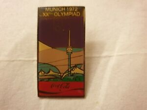 Coca-cola Munich 1972 olympic pin badges 1990s series