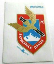 Souvenir-Aufkleber Skischule Davos Graubünden Schweiz fliegender Adler 80er