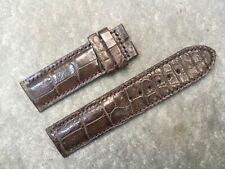 Watch Strap Band Dark Brown *Read* 22mm/22mm Genuine Alligator Crocodile Leather