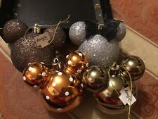 Disney Mickey & Minnie Mouse Baubles Christmas Tree Primark Glitter X 4 Large 💙