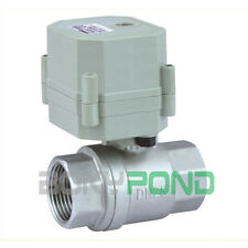 DC 24V Stainless Steel Motorized Ball Valve BSP 1'', CR2-01 Electric Valve 2-Way