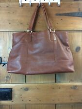 Huge Brown Leather Shopper tote Handbag