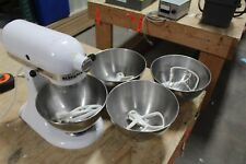 VINTAGE KITCHENAID COUNTERTOP MIXER K45SS WITH BOWL AND ATTACHMENTS  NICE