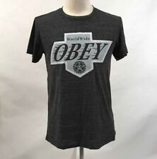 Obey Men's T-Shirt Los Reyes Heather Charcoal Size M NEW Shepard Fairey