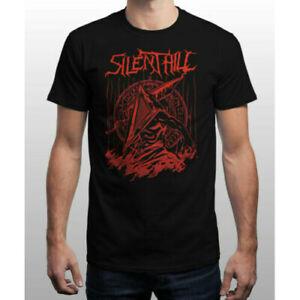 Silent Red Thing Silent Hill Pyramid Head Horror Movie Black Cotton T-Shirt