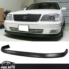 Fit For 98-00 Lexus LS400 Front Bumper Lip VIP Style PU Black