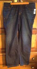 New! Old Navy Women's Jeans, 18 Plus Regular, Dark Indigo, Denim, Stretch Taper
