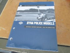 Harley Davidson DYNA Police Models 2002 Factory Parts Catalog 99544-02A