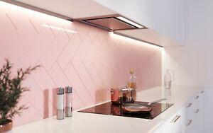 SAMPLE £14.89/M2 Subway Brick Flat Rose Baby Pastel Pink Ceramic Gloss Wall Tile