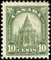 1930 Mint H Canada F+ Scott #173 10c King George V Arch/Leaf Stamp
