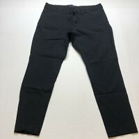 Gap Slim City Pants Black Crop Stretch Size 16 A1503