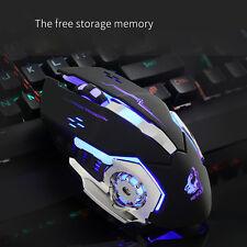 Wired USB LED Light 4000DPI Optical Ergonomic Pro Gamer Gaming Mouse Mice for PC