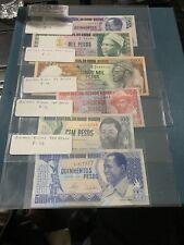 GUINEA BISSAU 5000 1000 500  100  59 Pesos 1983 P-7  8 9. 10 11 12 Unc