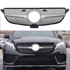 Front Vents Mesh Diamond Grill Grille Fit For Mercedes-Benz GLE W166 2015-2017