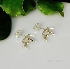 8x6 Emerald Snap Tite Sterling Silver Earring Settings (Open Back)