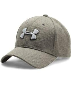 Under Armour UA 1283151 Mens Heathered Blitzing Cap BASEBALL HAT M/L GRAY 358