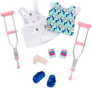 Our Generation Doll by Battat BOOBOO KISSES Deluxe Outfit with Crutches