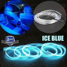 2M Car Auto Interior LED Wire Strip Atmosphere Cold Light Ice Blue Decor Strip