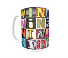 NINA Coffee Mug / Cup featuring the name in photos of sign letters