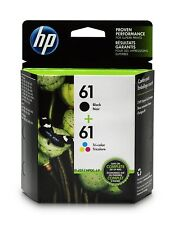 GENUINE HP61 Tri-Color Black Ink Jet Printer Cartridges Twin Pack HP 61 12/2020