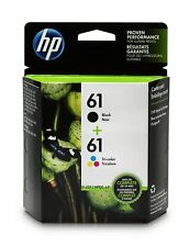 GENUINE HP61 Tri-Color Black Ink Jet Printer Cartridges Twin Pack HP 61 11/2020