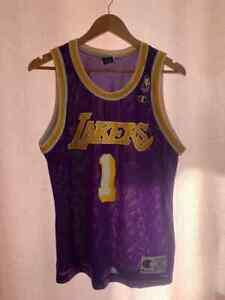 NBA LOS ANGELES LAKERS BASKETBALL SHIRT JERSEY SIZE 40 CHAMPION #1