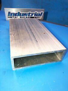 """6061 T6 Aluminum Rectangle Tube  2"""" x 6"""" x 12"""" x 1/4""""-->2"""" x 6"""" x .250"""" Wall"""