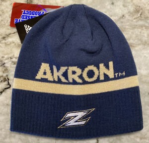 Akron University Zips Adidas Cuffless Winter Hat Beanie Stocking Cap NCAA