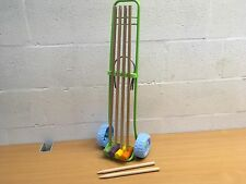 CHILD'S SMOBY CROQUET SET AND TROLLEY NEW NO BALLS