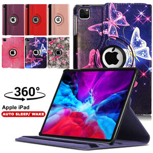 Leather 360 Rotating Stand Case Cover For Apple iPad 12.9 4th 3rd Generation