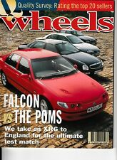 WHEELS magazine July 1995 Ford Falcon XJ6 Mercedes E Class Hyundai Lantra Seat
