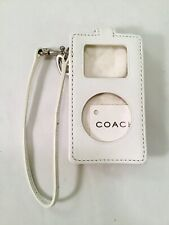 COACH iPod Case, White Leather Removable Wrist Strap, COACH Leather