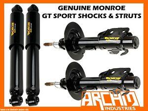 MONROE GT SPORT F&R LOWERED (SHORT) STRUTS/SHOCKS FOR FORD FALCON BF SEDAN
