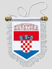 CROATIA - 5 X 6 INCH - CROATIAN CAR AND WALL FLAG PENNANT BANNER